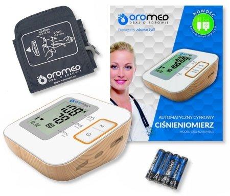 Ciśnieniomierz elektroniczny ORO-N2BASIC BAMBUS