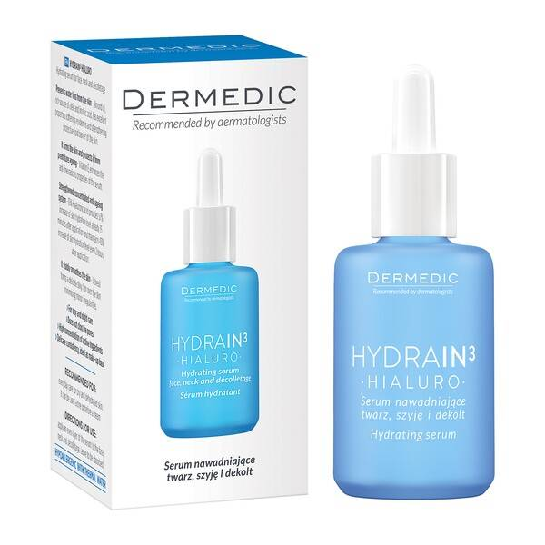 Dermedic Hydrain3 Hialuro Serum nawadniające twarz, szyję i dekolt 30ml
