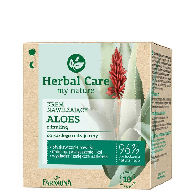 Farmona Herbal Care krem do twarzy nawilżający aloes do każdego rodzaju cery 50ml