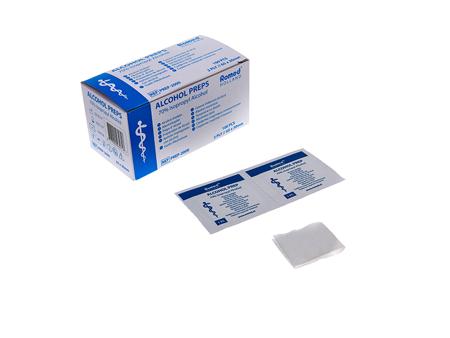 Gaziki do dezynfekcji skóry Romed 65x30mm 100 szt