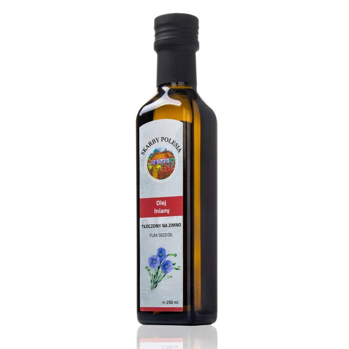 India Naturalny olej lniany tłoczony na zimno 250 ml
