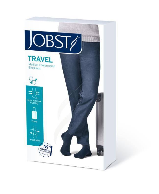 Jobst Travel podkolanówki zamknięte palce 15-20mmHg beżowy 4