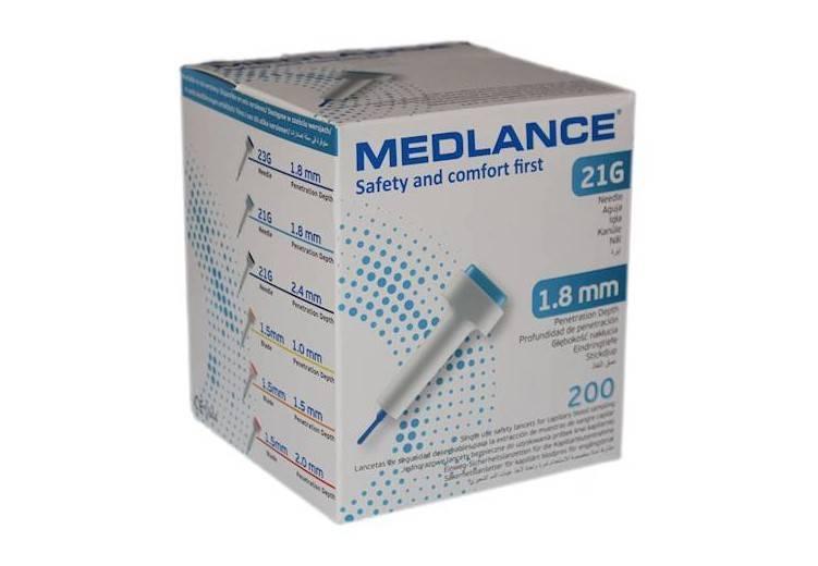 Nakłuwacz Medlance 1.8mm 200 szt