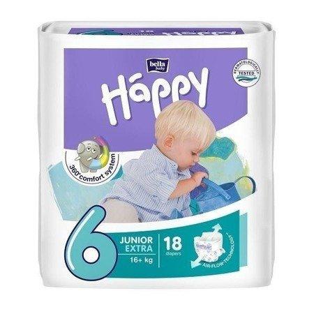 Pieluszki dla dzieci Happy Junior Extra 18 SZT