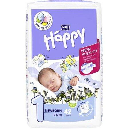Pieluszki dla dzieci Happy New Born 42 SZT
