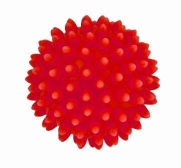Piłeczka Rehabilitacyjna z kolcami 9cm czerwona
