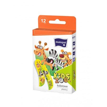 Plaster zestaw Kids Zoo 12 SZT z zawieszką
