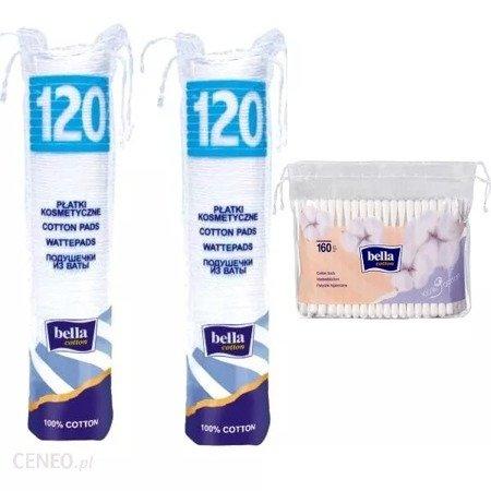 Płatki Kosmetyczne Okrągłe 120SZTx2+Patyczki folia