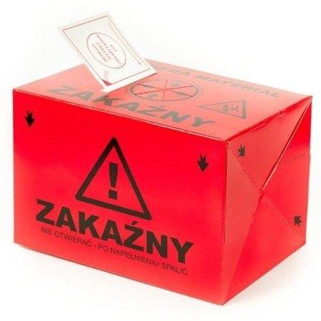 Pojemnik Tekturowy na odpady 10L czerwony