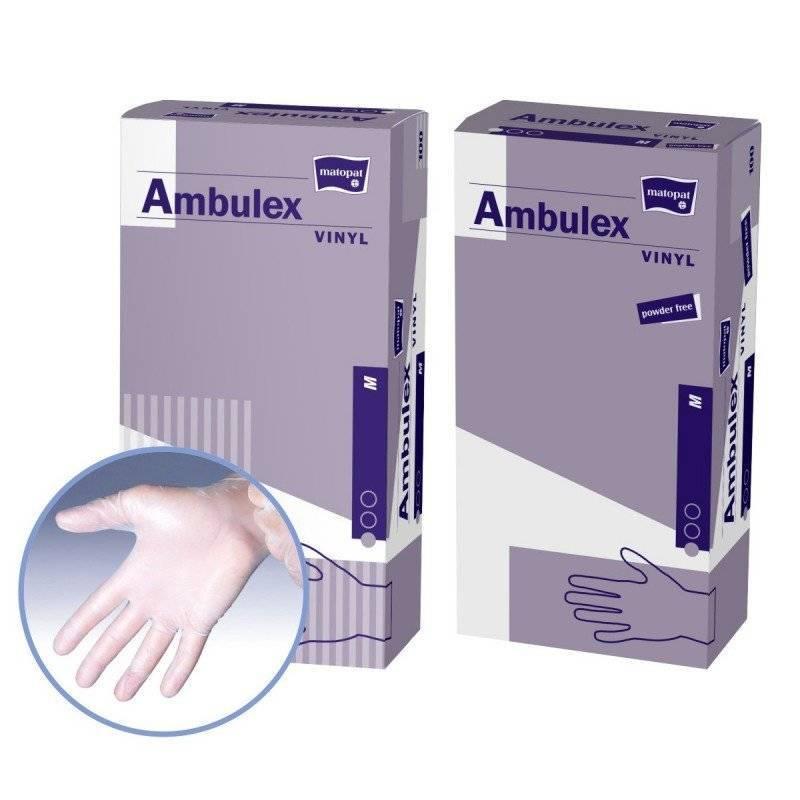 Rękawice niejałowe Ambulex vinylowe niepudrowane