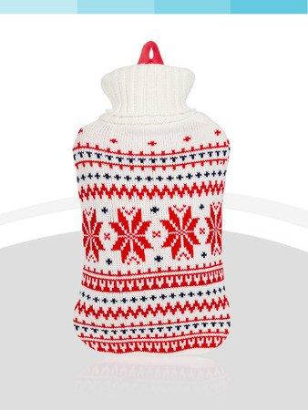 Termofor gumowy Sanity w pokrowcu sweterek 2l