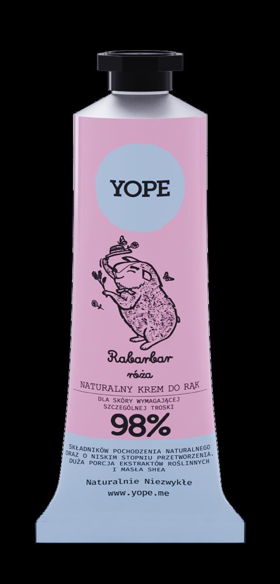 YOPE krem do rąk rabarbar i róża 50 ml