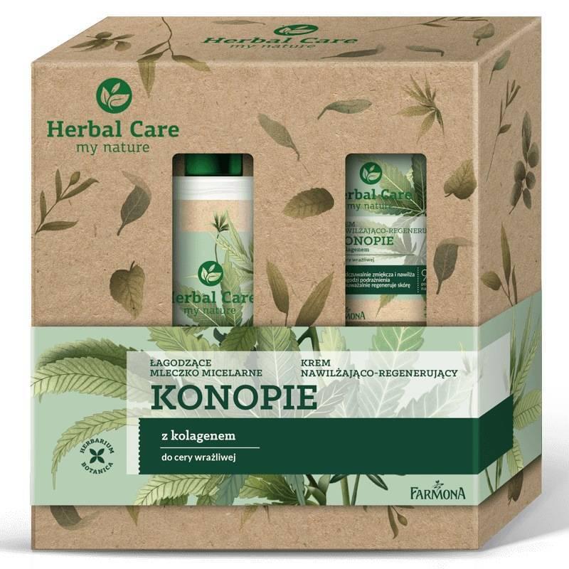 Zestaw Herbal Care pielęgnacja twarzy Konopie (krem do twarzy, mleczko micelarne)