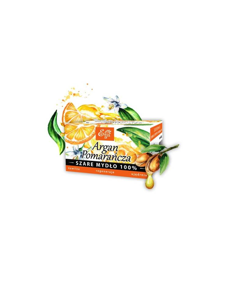 Etja mydło 100% naturalne argan&pomarańcza 80g